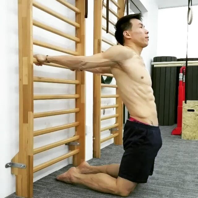@Regrann repost. Gymnasticbodies : Shoulder Extension Stretch.  To develop Scapular Stabilizers Strength while challenging Core strength.  Please kindly credit & Hashtag #Christophersommer #gymnasticbodies when sharing our exercises and drills.  Email us at info@bodytreegst.com for a Personal Training Session and discover how GST can help you achieve your Fitness goal.  Gymnasticbodies Gymnastic Strength Training(#GST) is a PROVEN #bodyweighttraining system developed by Coach Christopher…