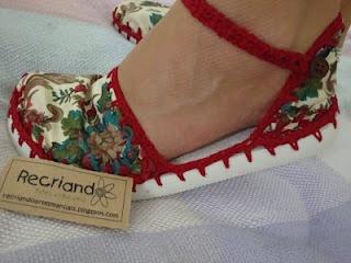 sapatos de tecido