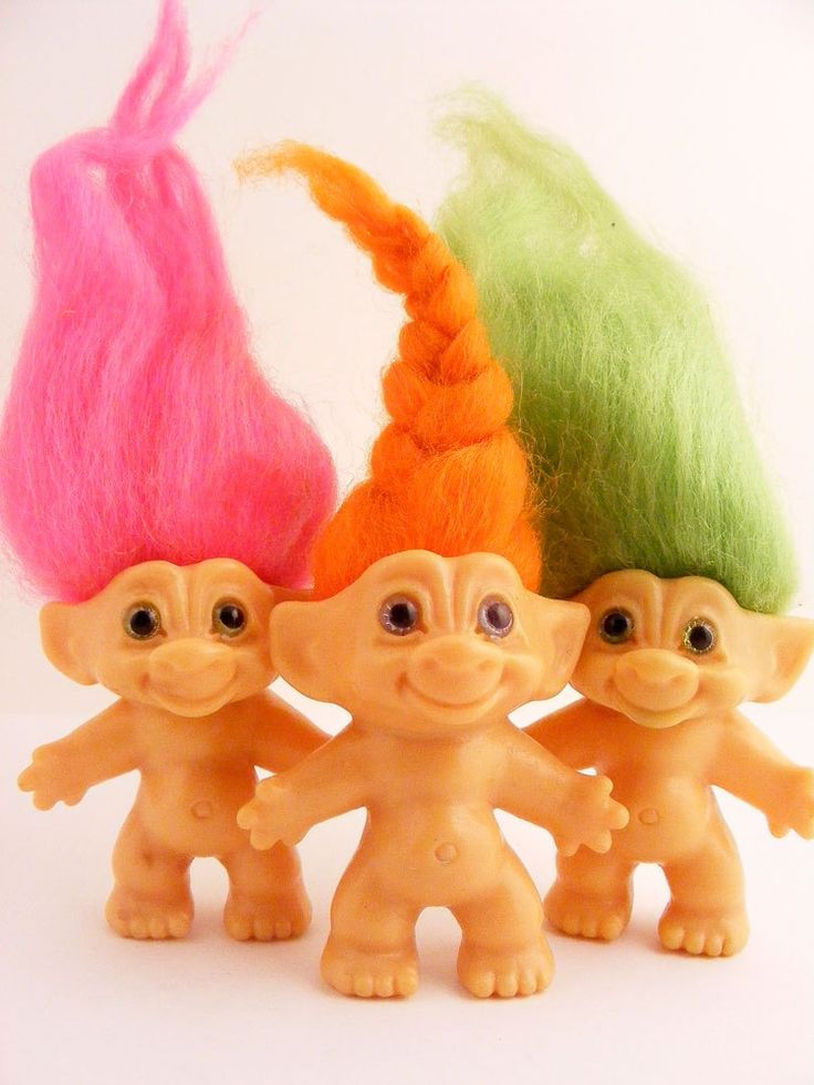 Troll Dolls - I had so many of these!  I was always doing hair and making clothes