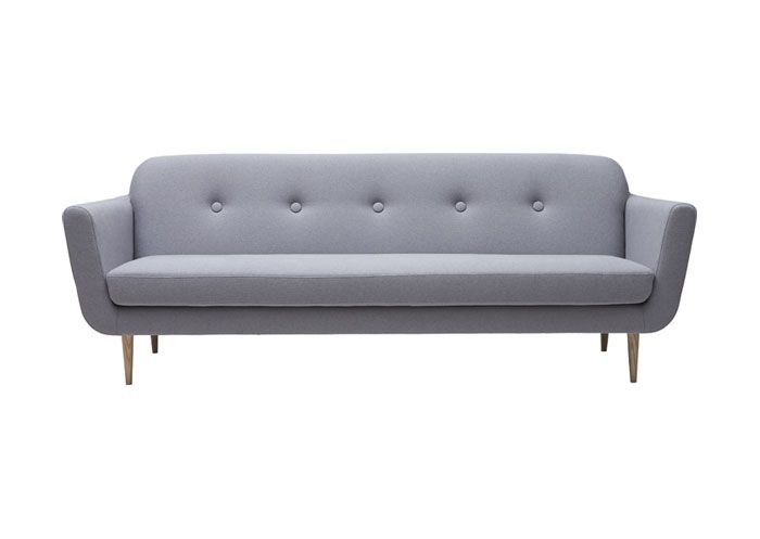 3-sits soffa i ljusgrått tyg   Home.   Pinterest   Living
