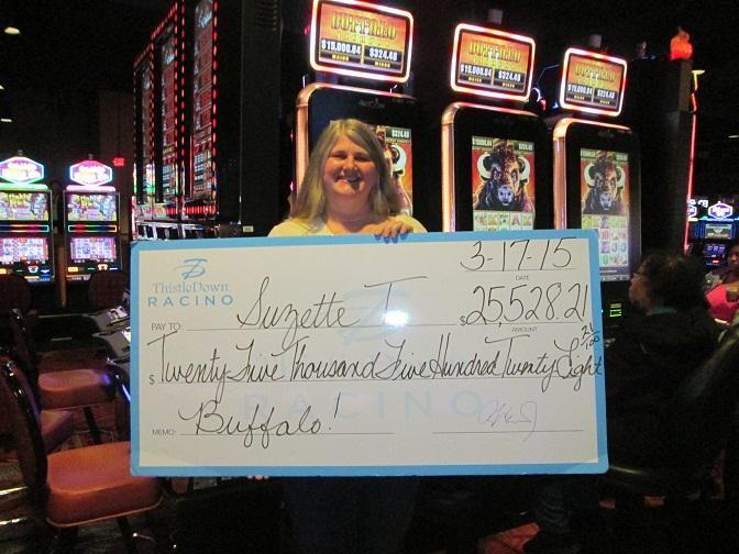 St.Patrick's day joy for Suzette who won $25,528.21 on #Buffalo @ThistleDownOhio