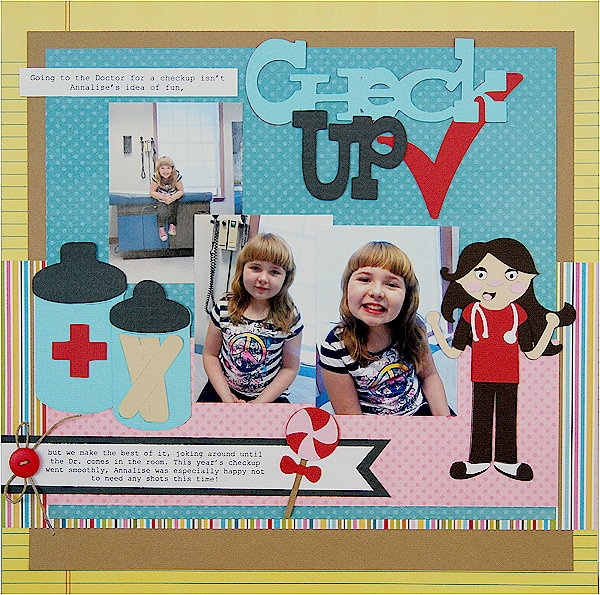 We love this Doctor Check Up scrapbook layout!: Cricut Scrapbooking Layouts, Doctor Checkup, Doctor Dentist Hospital, Doctor Visits, Cricut Cartridge, Cricut Layouts, Scrapbook Dentist Doctor, Crafty Ideas Scrapbooking, Cricut Scrapbook Layouts