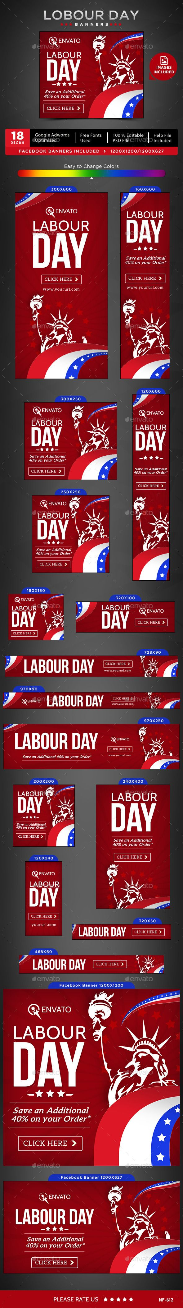 Labour Day Sale Banners Template #design #ads Download: http://graphicriver.net/item/labour-day-sale-banners/12723344?ref=ksioks
