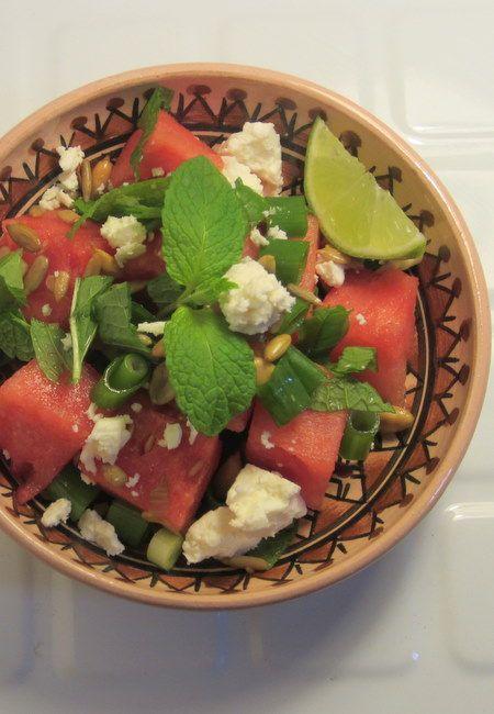 Watermelon salad { Recipe }