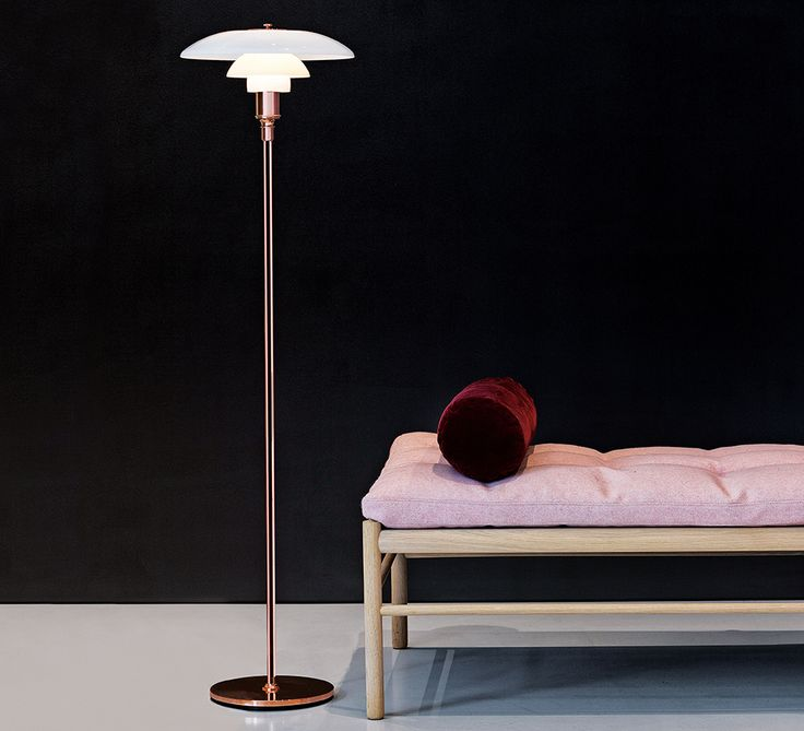 PH 3½-2½ Copper Floor Lamp. Louis Poulsen.