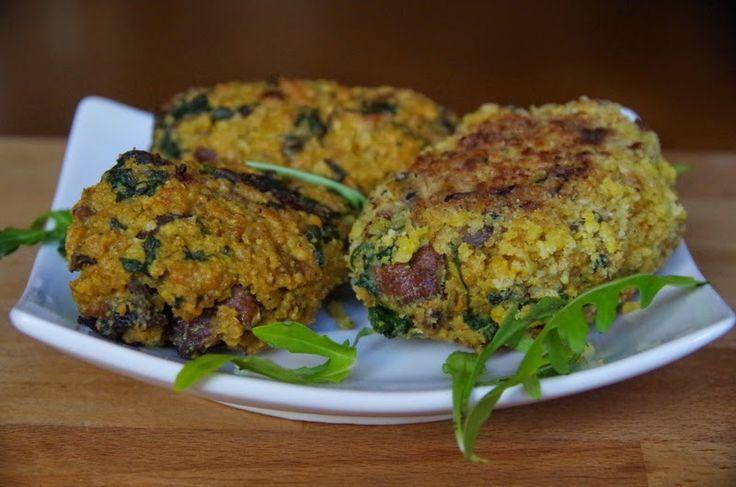 Zdrowo zakręcona: Kotlety jaglane ze szpinakiem i pieczarkami