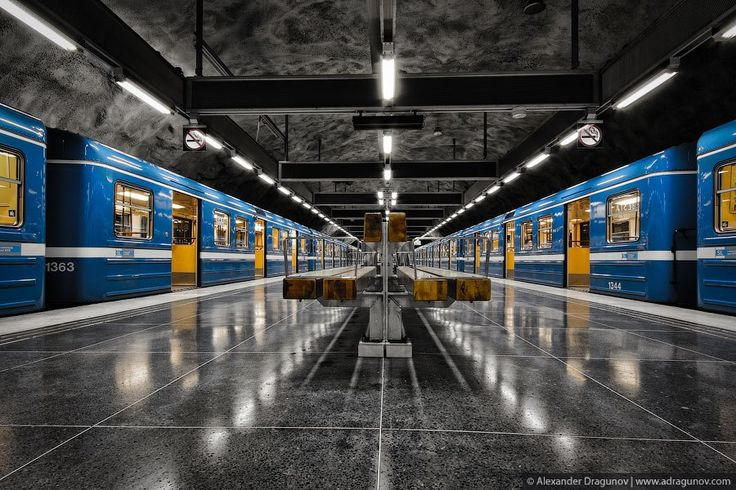 "Stockholm's subway stations are out of this world! Each one incorporates an entirely unique style. Go on a ride with Alexander Dragunov as he documents these beautiful works of art that have a very ""James Bond"" feel to them."