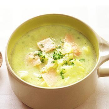 カリフラワーとハムのスープ