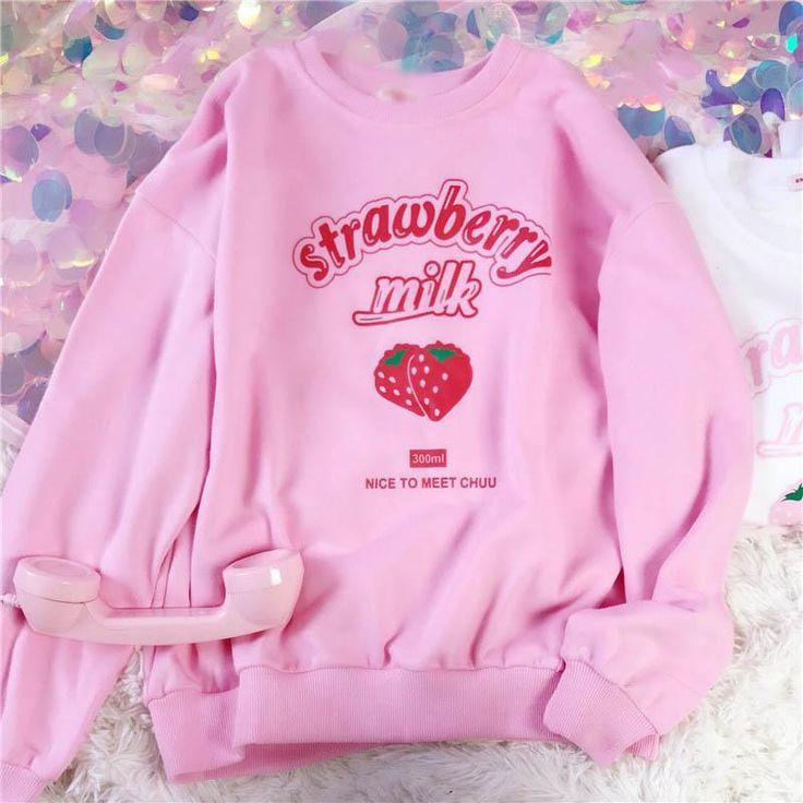 pink sweatshirt tumblr  cute