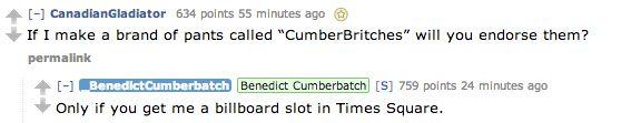 Cumberbatch AMA