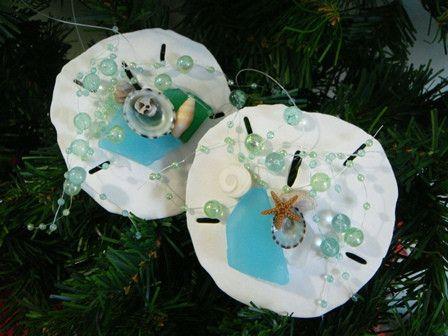beach grass — Sand Dollar Christmas Tree Ornaments