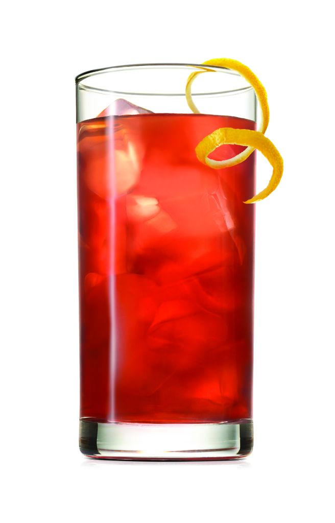 WOODFORD RESERVE BOURBON PUNCH INGREDIENTS 1 1/2 oz. Woodford Reserve 2 oz. Lemonade 1 oz. Pomegranate Juice Garnish with a lemon twist  INSTRUCTIONS Shake all ingredients with ice and pour into a tall glass.