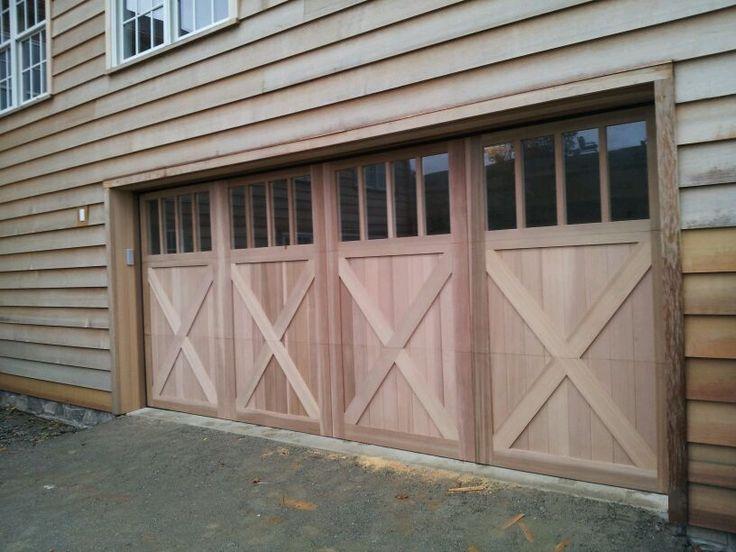 An Artisan Custom Wood Overhead Door Installed By Dutchess Overhead Doors.  Do A Paint Grade
