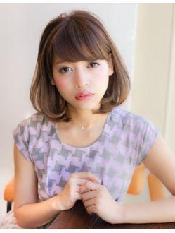アフロート ジャパン AFLOAT JAPANおしゃれで可愛いボブ~黒髪でも似合うふわミディ~