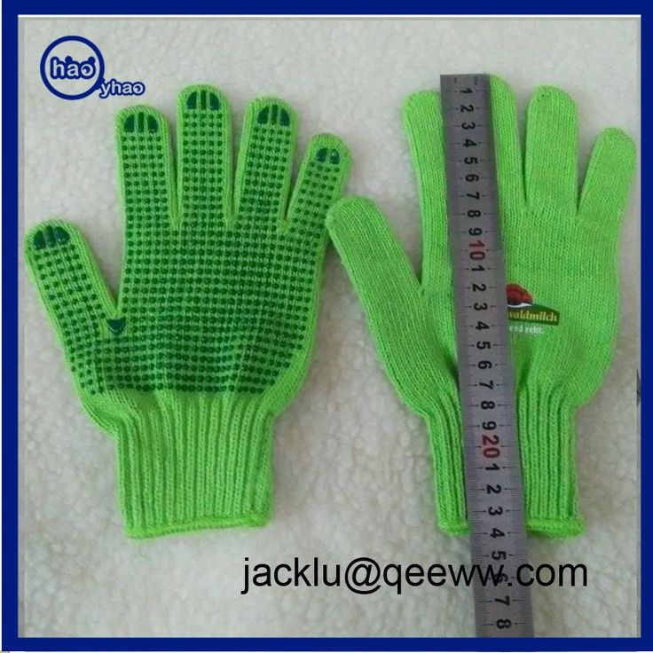Factory price Amazon Supplier Heat Transfer Printing Knitting Cotton Cheap Work Glove