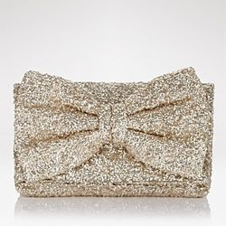 Make a glittery gold Betsey Johnson-inspired bow clutch!