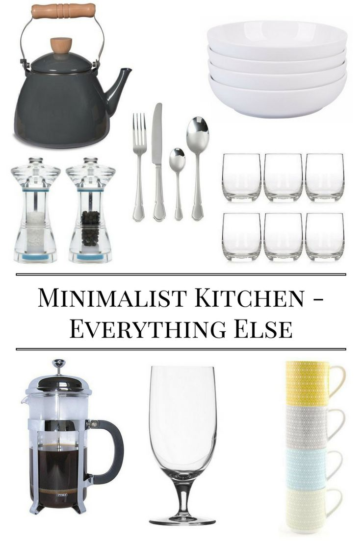 Essentials for a Minimalist Kitchen - Items You Need In Your Kitchen | Kitchen Essentials | First Home Essentials | First Home Checklist