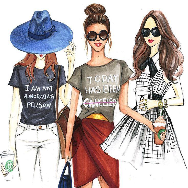 Картинки про моду и стиль нарисованные