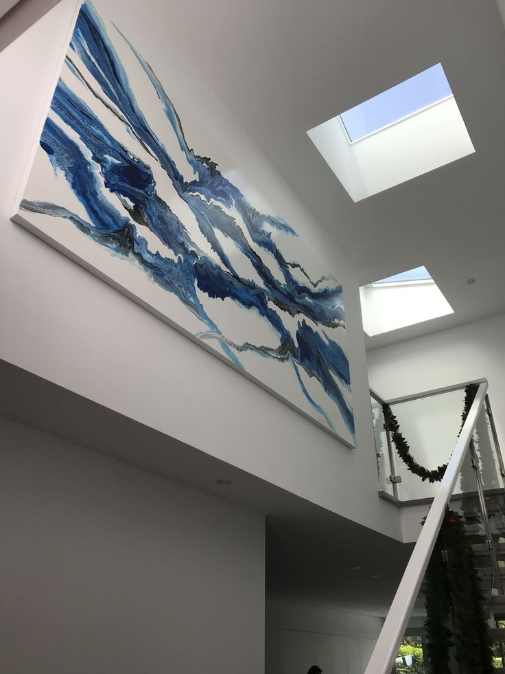 Artwork by Glenn Farquhar 320cm x 160cm created at Art Fusion Studio & Gallery Sydney acrylic on canvas #artfusion #artfusionart #interiordesignart #artideas #interior #design #decorart #artwork #artlessons #artsydney #artstudio #artist #art #customart