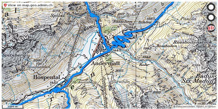 Andermatt village map Maps Pinterest Andermatt and Switzerland
