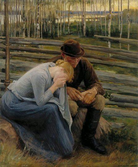 Albert Edelfelt, Sorrow, 1894
