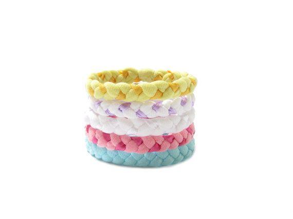 Braided Bracelets Fabric Bracelets Colorful by gicreazioni on Etsy