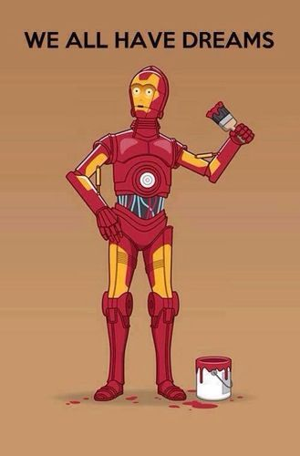 Cp3po Iron man.                                                                                                                                                                                 Mais