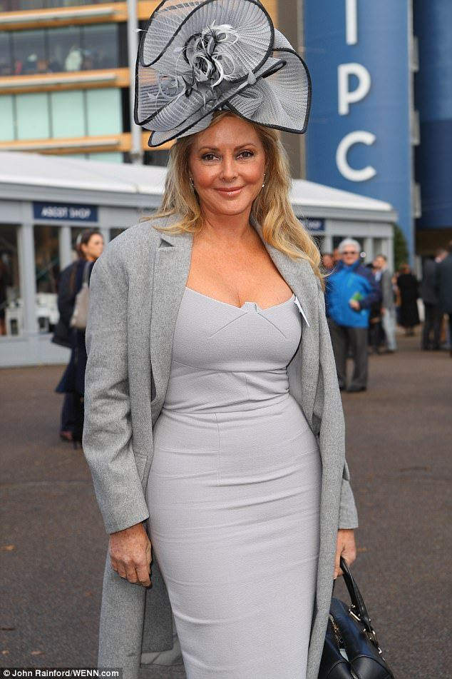 Hat's a good look: With minimum accessories, the former Countdown co-host wore a lovely pa...