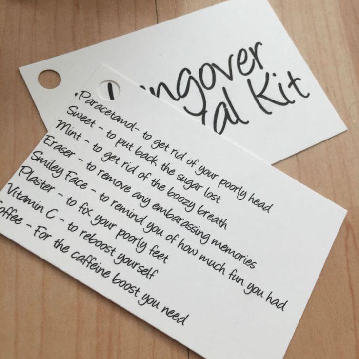 Best 25 Hangover Survival Kits Ideas On Pinterest