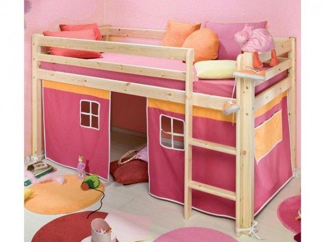 Lit mezzanine chateau princesse lit mezzanine loft for Lit mezzanine loft