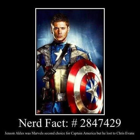 i would have fucking died!! i love captain america and jensen.. like seriously i would have masturbated myself to death. lol