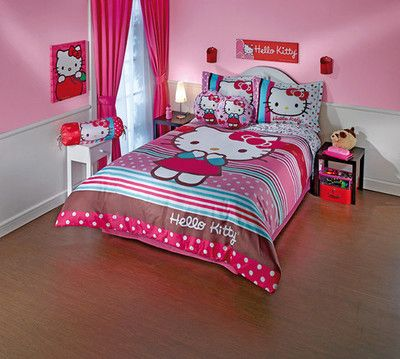 Hello Kitty  Rainbow  Bedding Set Twin   The duvet set. 7 best Hello Kitty Bed Sets images on Pinterest   3d bedding sets