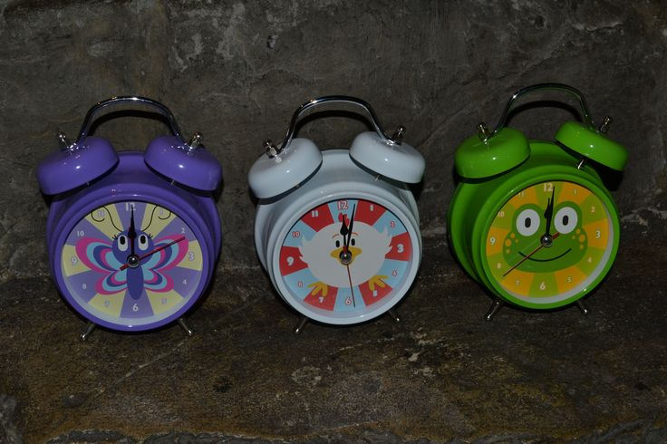 Some of our funky children's alarm clocks!