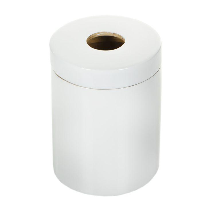 Buy Ekobo Ringo Glossy Bathroom Bin - White | Amara