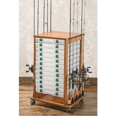 132 best images about fishing rod racks holders on for Fishing poles wow