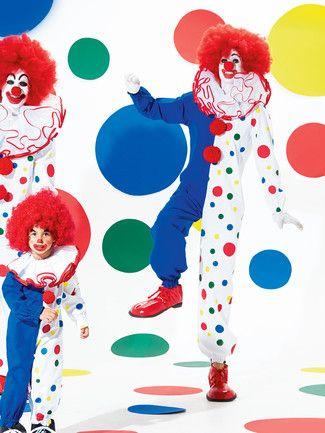 Clownkostüme für die ganze Familie. burda style, Schnittmuster für Fasching.