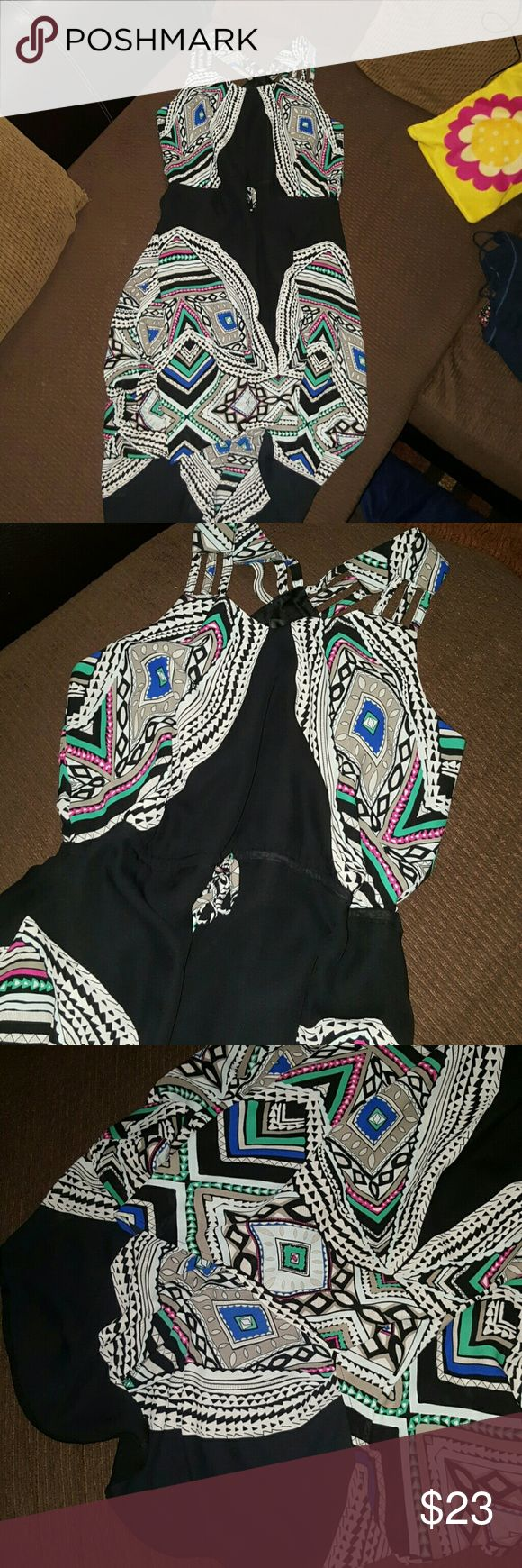 Mossimo Tribal Maxi Dress (long back)-size Large Fabulous Tribal Inspired Maxi Dress (long back) with adjustable string in the waist Size Large Good for spring and? summer No rips No stains No holes No smell In great condition  Make an offer Mossimo Dresses Maxi