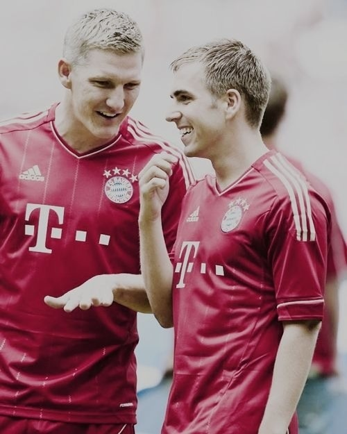 """""""I've known him all my life. He comes into training, and doesn't speak to anybody. I get there at 7:00am, and he is already out training. He never gets into bother, and always works hard. He should be recognised a lot more, because his dedication to be successful is completely faultless"""" - Sebastian Schweinsteiger talks about Lahm"""