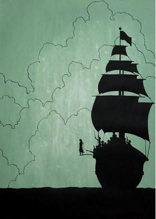 peter pan, #illustration #tales #ship #sailing <<< repinned by www.BlickeDeeler.de