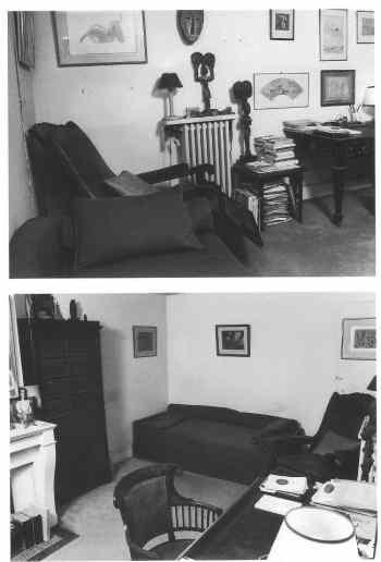 Le bureau de Jacques Lacan, vue de sa porte d'entrée.