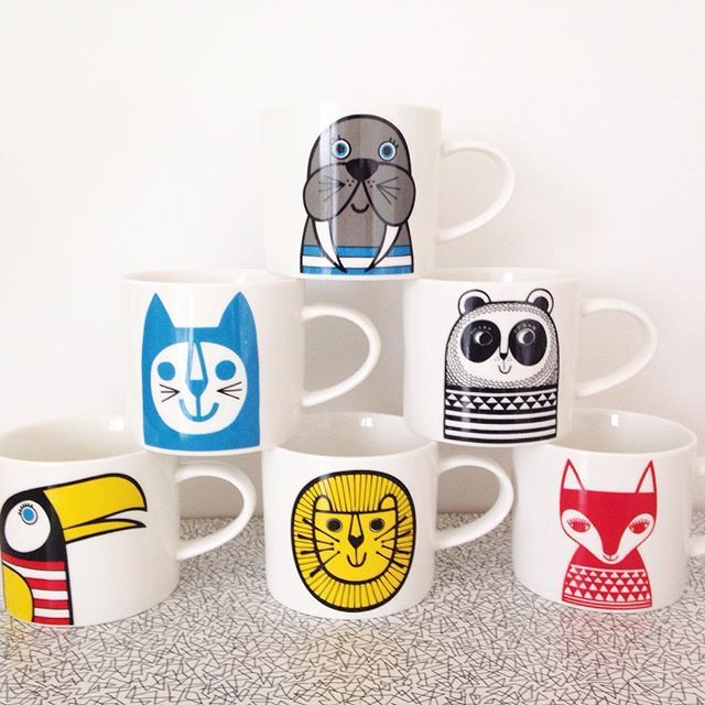 Have been working on some new mugs - can't show you them yet unfortunately but my mugs shown here are still available @makeinternational #janefosterdesigns #janefostermug #animalmug #retrohome