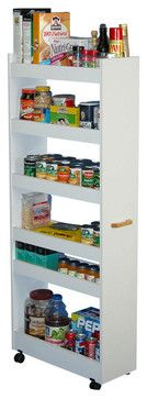 Thin Man Pantry Cabinet - White contemporary-pantry