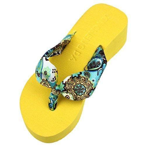 Oferta: 1.38€. Comprar Ofertas de Chanclas Mujer,Xinan Plataforma de la Cuña Sandalias de las Chancletas Zapatillas (CN 37, Amarillo) barato. ¡Mira las ofertas!
