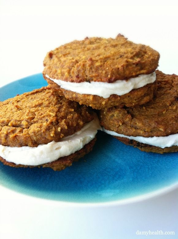 High-Fiber/Flourless Carrot Cake Cookies with Dairy Free Frosting