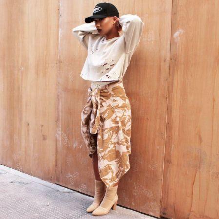 @jadelaurice killing it in our desert camo jacket  lightweight & perfect summer link in bio  #desertcamojacket