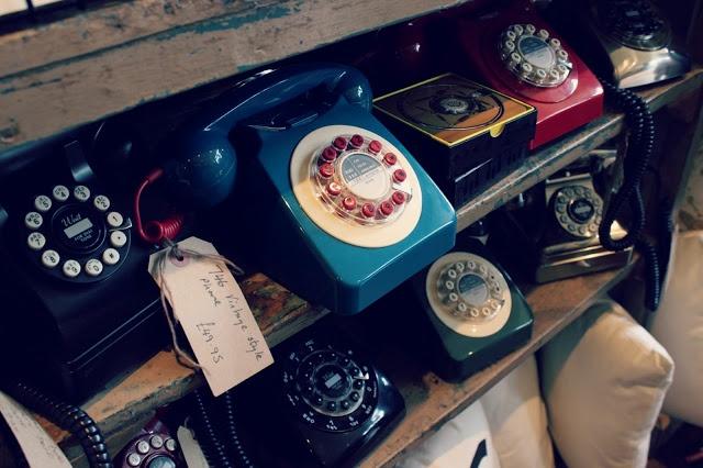 Old telephones