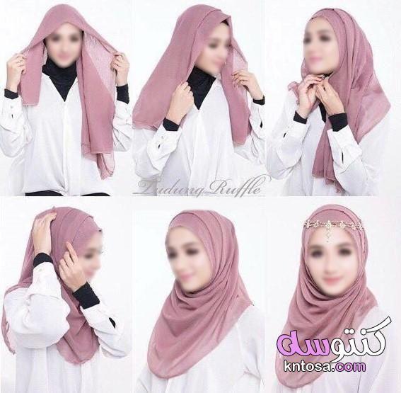 لفة الطرحة الشيفون لجميع اشكال الوجه طرق لف الطرح طرق حديثة 2020 للف الطرح طريقة لف طرحة بسيطة وسهلة Kntosa Com 14 19 156 Fashion Hijab