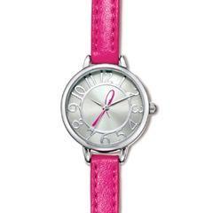 Breast Cancer Crusade Skinny Strap Watch