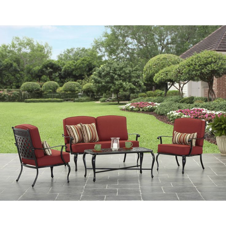 The Better Homes and Gardens Dawn Hill 4Piece Aluminum