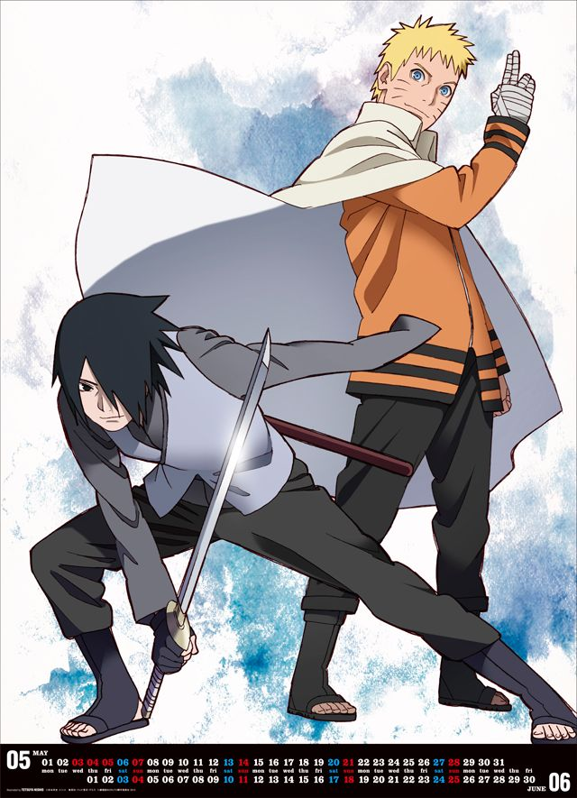 BORUTO CALENDAR 2017 page 4 MangaMint Naruto shippuden